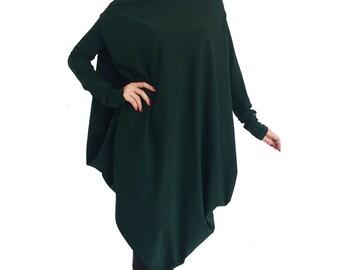 Long sleeve sweater/ Drape tunic top/ Long sweater/ Long sleeve top/ Loose tunic top/ Plus size clothing/ Oversize tunic  OLYA FALL