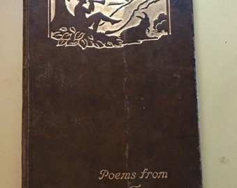 Antique book Poems from Tennyson