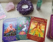 Magical Messages from the Fairies + Flower Therapy Oracle - 4 Card Reading