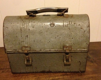 Vintage Metal Lunch Box and Thermos
