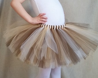 Gold Brown and Ivory Tutu | Gold and Brown Skirt | Natural Tutu | Golden Birthday Tutu | Girls sizes 6-14