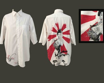 Geisha - hand painted one of a kind wearable art