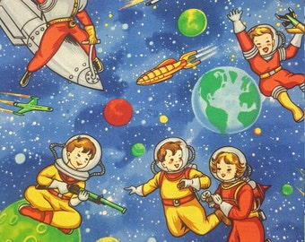 Spacekids by Michael Miller Cotton Fabric by the yard