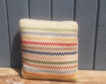 Vintage Pillow 12 x 12 - Chevron Pillow - Corduroy Pillow