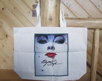 Vntg Elizabeth Taylor Large Tote Bag