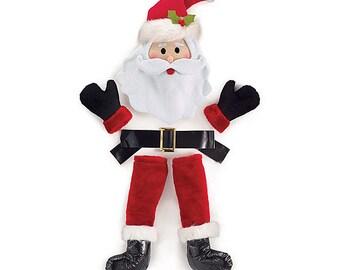 SALE - Santa Wreath Kit - Santa Claus Decoration - Christmas -  Primitive Winter Door Decor - Christmas Wreath - Wreath Enhancement