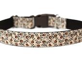 """Fall Dog Collar 1"""" Brown Dog Collar"""