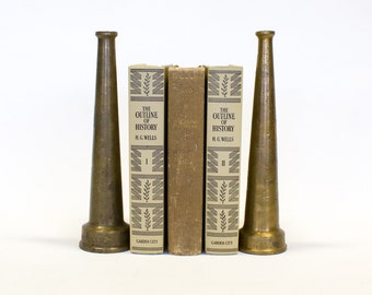 Brass Fire Hose Nozzels / Bookends, Vintage Set of 2,  Free Shipping