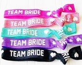 Team Bride Hair Ties, Bridal Shower, Bachelorette Party , Wedding Day Survival, Thank You, Bridesmaid Gift, MOH, Party Favor, Hangover Kit