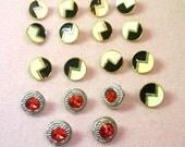 RESERVED  18 Vintage Plastic Buttons - Shank Style - De-Stash No. 1682