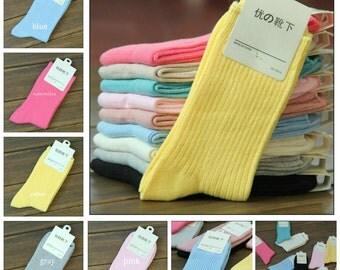 Women's Socks 100% Cotton Colorful