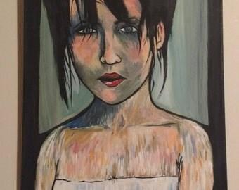 Original Acrylic Painting Dark Painting Impressionist