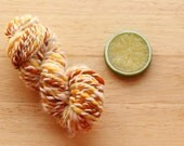 Flicker - Handspun Mini Skein Angora Merino Plied Yellow Yarn