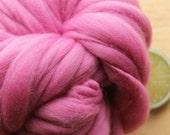 Primrose - Handspun Wool Yarn Pink Thick and Thin Skein