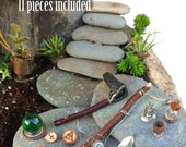 Fairy Findings  // Fairy Garden Accessories // Made with Recycled, Found and Organic Materials