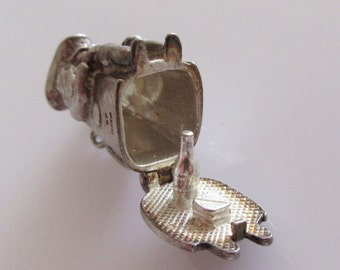 Large Silver Toby Jug Opening Charm