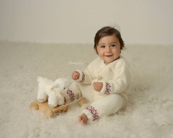 Long Sleeve Overalls, 6-12M Overalls, Christmas Prop, Photo Prop