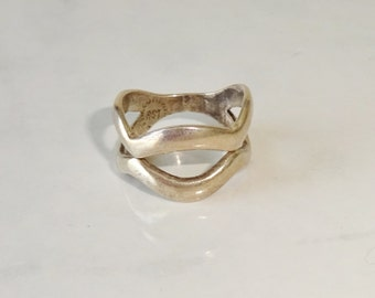 Vintage Taxco Sterling Silver Ring Mexico Size 6 1/2