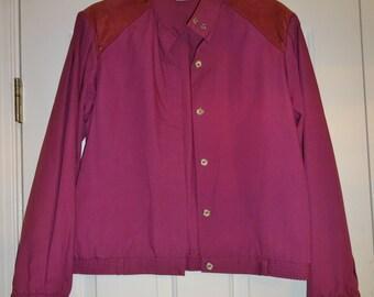 Vintage White Stag Jacket Women's Mauve Lightweight Jacket