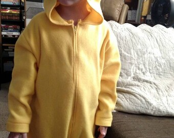 Child's Pikachu costume, size 6mths, 1T, 2T, 3T, 4T ORDER by OCTOBER 1ST to guarantee delivery by Halloween