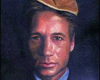 Canvas Print / David Duchovny Agent Mulder XFiles Pancake
