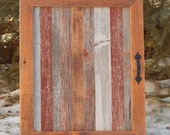RESERVED for DEBORAH DEAN -- Custom Made Barnwood Medicine Cabinet and Mirror