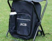 Personalized Embroidered Tailgate Backpack Sit N Sip Cooler Chair Groomsmen Golf Football Soccer