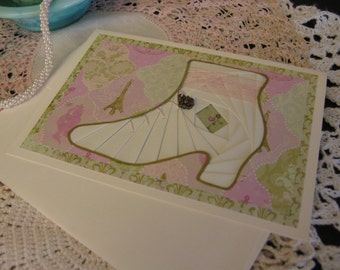 Lady Shoe With Charm Card