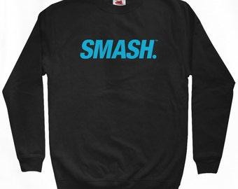 Smash Slanted Logo Sweatshirt - Men S M L XL 2x 3x - Crewneck Smash Transit Shirt, Move Forward, Regret Nothing - 4 Colors