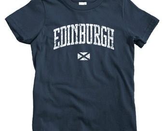 Kids Edinburgh T-shirt - Baby, Toddler, and Youth Sizes - Edinburgh Scotland Tee, Scottish - 4 Colors