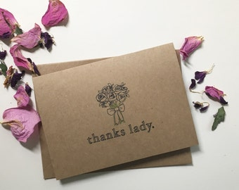 Thank You Bridesmaid Card / Greeting Card, Bridal Party, Flower Girl, Wedding Party, Bridal Shower, Baby Shower