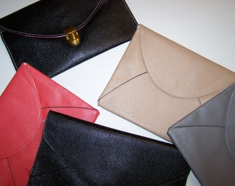 Monogrammed Clutch Purse  Bridesmaid Clutch Purse Monogrammed Envelope Purse