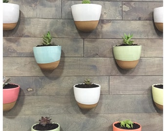 7 stoneware wall planters Save on shipping