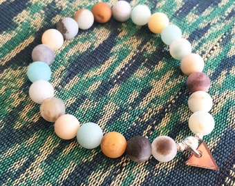 Natural Fosted Amazonite layering bracelet