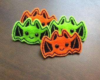 Bat dog bows felties for Halloween