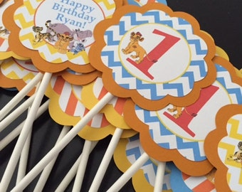 The Lion Guard Cupcake Toppers/Banner
