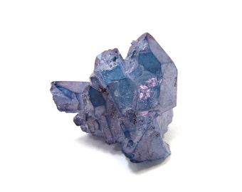 Tanzan Aura Quartz Crystal Specimen Celestial Aura 23mm x 22mm x 11mm Raw Stone Cluster (Lot 1125) Aura Mineral Specimen Indigo Aura