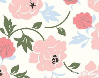 Minky fabric by the yard- Rose Garden cuddle minky white- Shannon Fabrics one yard