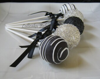 Black and White Party: Black and White Cake Pops Made to Order with High Quality Ingredients, 1 dozen