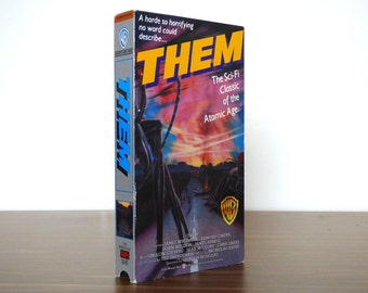 1950s Atomic Sci-Fi Film THEM Camp Science Fiction VHS Movie Radioactive Ants 1987 Warner Bros. Release