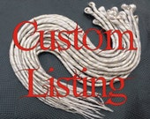 Custom Order for (robbie rizzo) 50 Pure White Single Ended Dreads