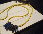Pandora (Yellow beads with Druzy Quartz Points)