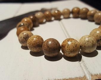 Earthing (21 - 10mm bead Picture Jasper)
