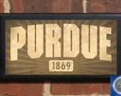 Purdue Boilermakers Established Date Classic Vintage Style Plaque Sign - Officially Licensed Product - PURD4