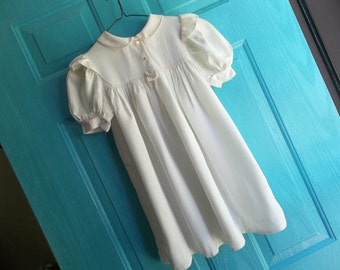 Girls Vintage Yves Saint Laurent Dress..Size 6X..Good Condition...White Grosgrain