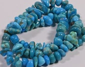 "Nevada Turquoise 16"" Strand Beads Chips Turquoise Beads Natural Gemstone Beads Jewelry Making Supplies"