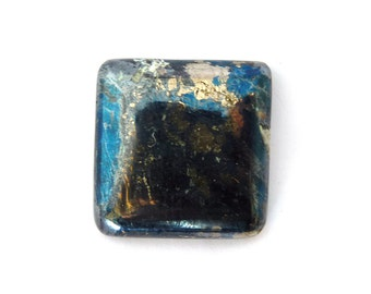 Metallic Blue Covellite Designer Cab Gemstone 28.7x29.2x7.4 mm 125 carats Free Shipping