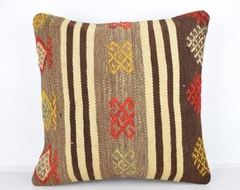 Handmade Wool Pillow Cover, Bohemian Pillow, Kilim pillow, Kilim Pillow Cover nkp118, Turkish Pillow, Bohemian Decor, Moroccan Pillow, Kilim