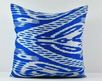 Ikat Pillow, Hand Woven Ikat Pillow Cover, Ikat throw pillows, Designer pillows, Decorative pillows, Accent pillows