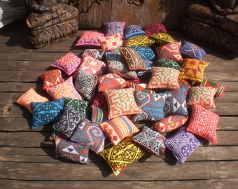 50 Textile Pockets HandMade with Upcycled Printed Fabric